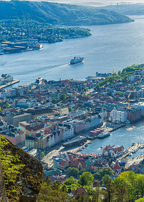 Photograph - Bergen Norway Overview From Floyen by Alan Toepfer