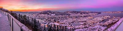 Wall Art - Photograph - Bergen On A Snowy Morning by Adrian O Brien