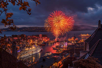 Wall Art - Photograph - Bergen On The 17th May by Adrian O Brien