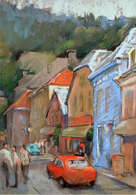 Pastel - Bergen Sentrum by Joan  Jones
