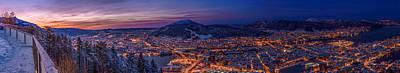 Wall Art - Photograph - Bergen Sunrise Panorama by Adrian O Brien
