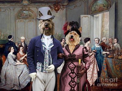 Painting - Berger Picard - Picardy Shepherd Art Canvas Print - Elegant Society by Sandra Sij