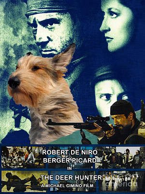 Painting - Berger Picard - Picardy Shepherd Art Canvas Print - The Deer Hunter Movie Poster by Sandra Sij