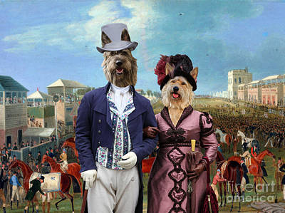 Painting - Berger Picard - Picardy Shepherd Art Canvas Print - The Race Over by Sandra Sij