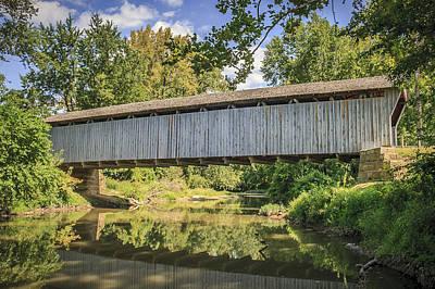 Bergstresser  Covered Bridge Art Print by Jack R Perry