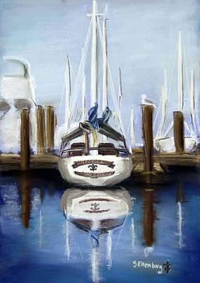 Hdr Drawing - Berkeley Marina by Steve Ellenburg