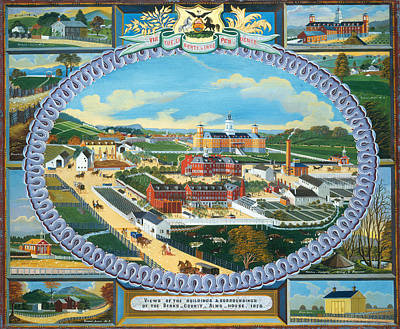 Berks County Almshouse Print by Mountain Dreams