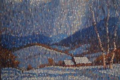 Painting - Berkshire Flurries by Len Stomski