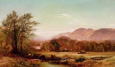 Net Painting - Berkshire Landscape by Arthur Patton