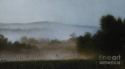 Berkshires Painting - Berkshire Morning Mist by Larry Preston