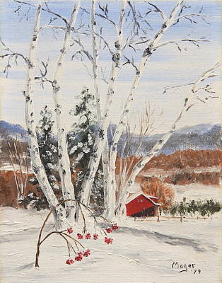 Snowscape Painting - Berkshire Winter II by Alan Mager