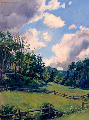 Abstract Realist Landscape Painting - Berkshires Backlight by Thor Wickstrom