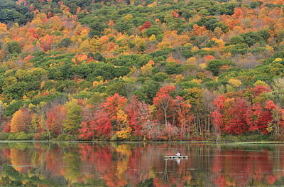 Photograph - Berkshires Fall Foliage October Mountain State Forest by John Burk