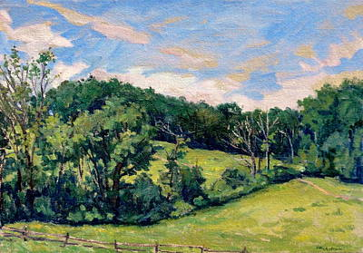 Abstract Realist Landscape Painting - Berkshires Hillside by Thor Wickstrom