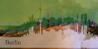 Abstract Digital Art - Berlin 1 by Alberto RuiZ