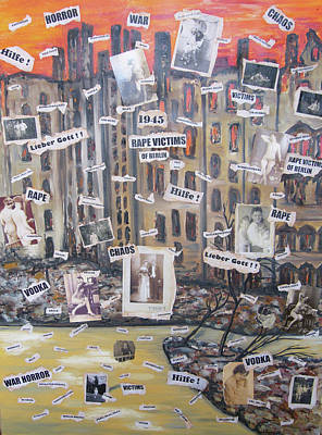 Mixed Media - Berlin 1945 by Barbara Anna Knauf