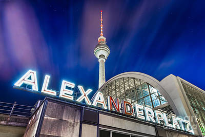 Photograph - Berlin Alexanderplatz by JR Photography