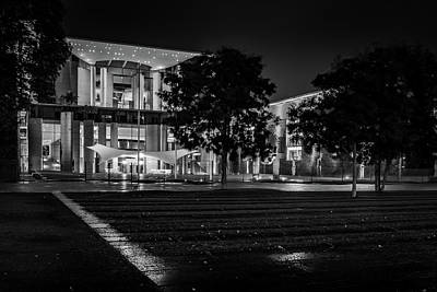 Berlin At Night - Chancellery - Kanzleramt Art Print