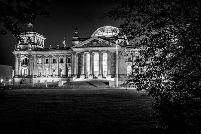 Berlin At Night - Reichstag Art Print