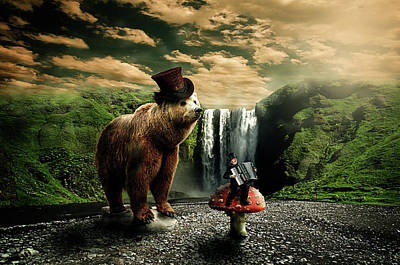 Berlin Bear Art Print by Nathan Wright