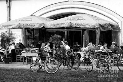 Photograph - Berlin Cafe Scene by John Rizzuto