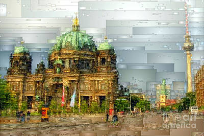 Digital Art - Berlin Cathedral by Rafael Salazar