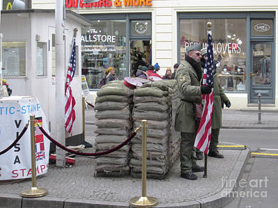 Photograph - Berlin Checkpoint Charlie 1 by Rudi Prott