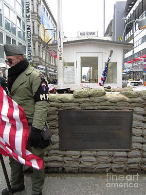 Photograph - Berlin Checkpoint Charlie 2 by Rudi Prott