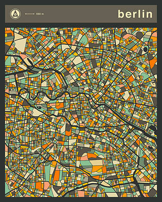 Berlin City Map Art Print