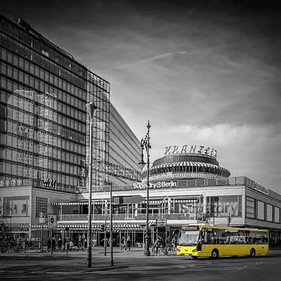 Bus Photograph - Berlin City-west by Melanie Viola