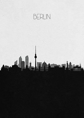 Drawing - Berlin Cityscape Art by Inspirowl Design