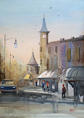 Painting - Berlin Clock Tower by Ryan Radke