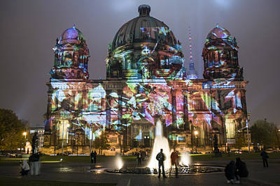 Digital Art - Berlin Festival Of Lights Berliner Dom by Nathan Wright