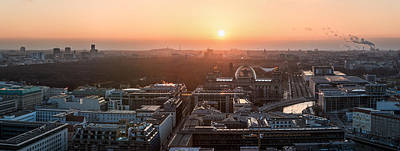 Berlin - Government District Panorama Art Print by Jean Claude Castor