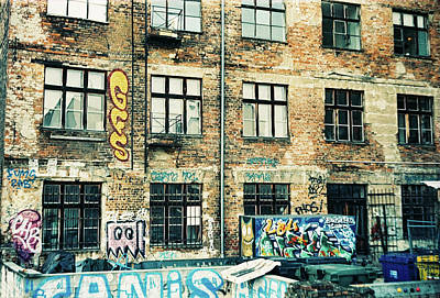 Photograph - Berlin House Wall With Graffiti  by Nacho Vega