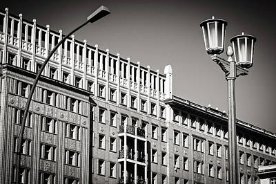 Black And White Photograph - Berlin - Karl-marx-allee by Alexander Voss