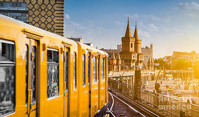 U-bahn Photograph - Berlin Kreuzberg by JR Photography