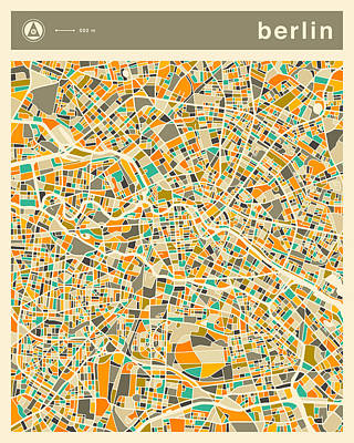 Berlin Map 2 Art Print