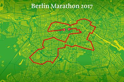 Berlin Marathon #2 Art Print