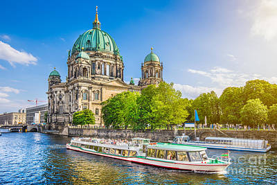 Berlin Cathedral Photograph - Berlin Museumsinsel by JR Photography
