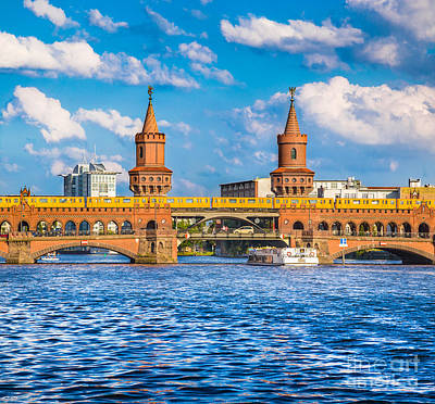 U-bahn Photograph - Berlin Oberbaum Bridge by JR Photography
