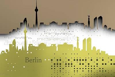 Berlin Digital Art - Berlin Skyline by Alberto RuiZ