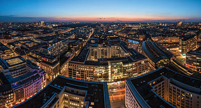 Berlin - Skyline City West #1 Art Print by Jean Claude Castor