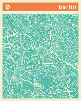 Berlin Street Map Art Print