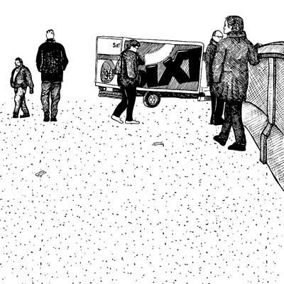 Berlin Streets Art Print by Karl Addison