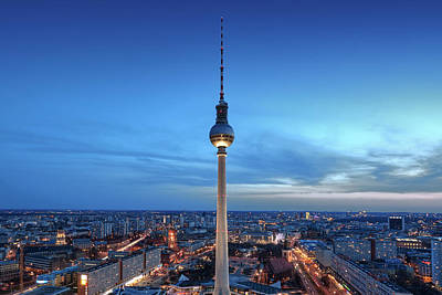 Art Print featuring the photograph Berlin Television Tower by Marc Huebner