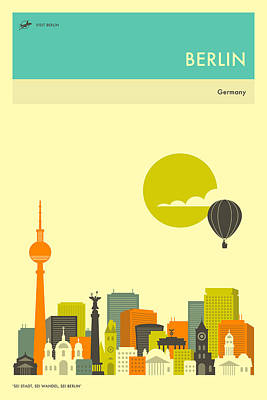 Berlin Travel Poster Art Print by Jazzberry Blue