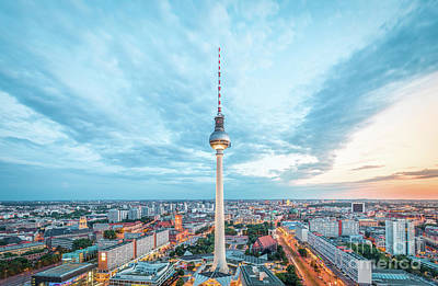 Photograph - Berlin Twilight Panorama by JR Photography