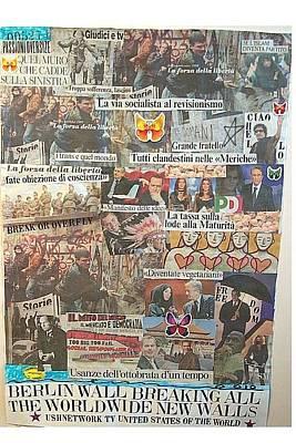 Communism Mixed Media - Berlin Wall Breaking All The Worldwide New Walls by Francesco Martin
