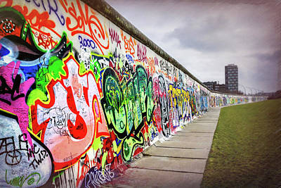 Mauer Photograph - Berlin Wall  by Carol Japp